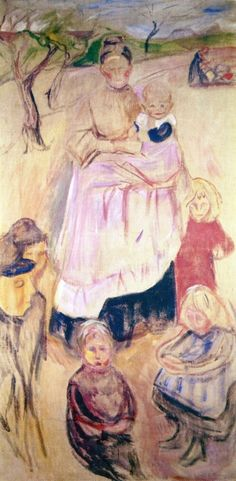 Edvard Munch - 'Mother With Children' Thüuingen (1906)