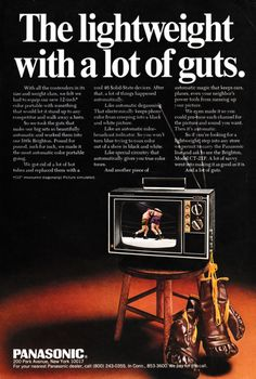 1968 Advertisement for Panasonic Televisions