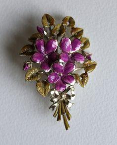 Beautiful Enamelled Exquisite Violets Posy by MagpieVintageBazaar, £24.00