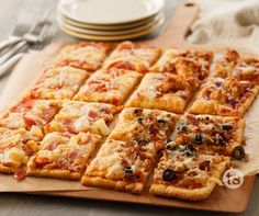 4-Square Family Pizza - Your family can each enjoy their own toppings with this pizza. Yum!