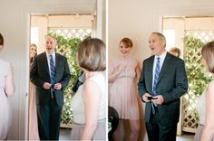 """Love the idea of having a """"first look"""" picture with the bride and her father!!"""