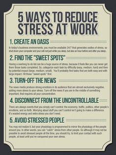 5 ways to reduce stress at work