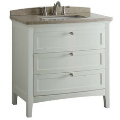 allen + roth Norbury White Undermount Single Sink Bathroom Vanity with Engineered Stone Top (Common: 36-in x 22-in; Actual: 36-in x 22-in)