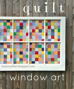 """That's My Letter: """"Q"""" is for Quilt Window"""