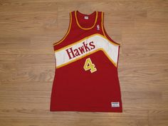4ad3c9eac vintage MacGregor sand knit Atlanta hawks jersey Spud Webb