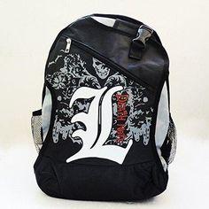 741fbb7c637 Anime Death Note Style School Bag backpack Messenger Bags Rucksack Laptop  Bag Death Note,