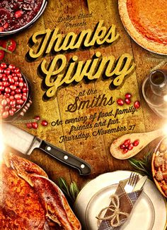 Rustic Thanksgiving Flyer Tempate