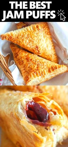 Sweet Desserts, Sweet Recipes, Delicious Desserts, Frozen Puff Pastry, Puff Pastry Sheets, Baking Recipes, Dessert Recipes, Baking Ideas, Mixed Berry Jam