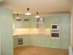 Mark Wilkinson Provence Kitchen Painted in Montpellier Paint-effect hand painted by Kevin Mapstone