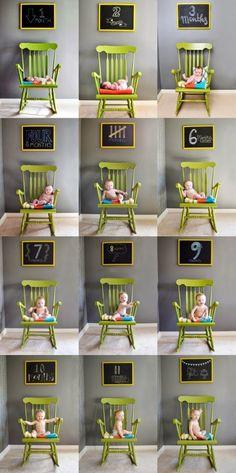 Ideas para fotografiar a tu bebé mes a mes... | Ser padres es facilisimo.com