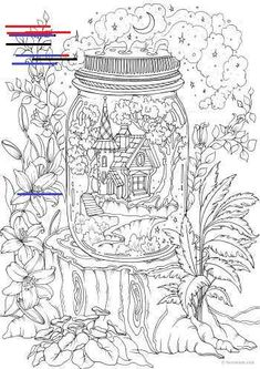 Fantasy Lion - Printable Adult Coloring Page from Favoreads (Coloring book pages for adults and kids, Coloring sheets, Coloring designs) The gnomes are having a good time in their little fantasy land. This adult coloring page is great for fairy tale fans. Shape Coloring Pages, Detailed Coloring Pages, Printable Adult Coloring Pages, Flower Coloring Pages, Free Coloring Pages, Coloring Books, Colouring Pages For Adults, Coloring Pages Nature, Mandala Coloring