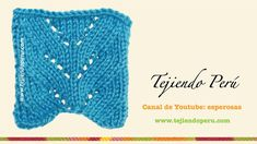 Punto espiga en dos agujas o palillos Knit Purl Stitches, Knitting Stiches, Knitting Videos, Crochet Videos, Knitting Socks, Knitted Hats, Knitting Patterns, Knit Crochet, Crochet Hats