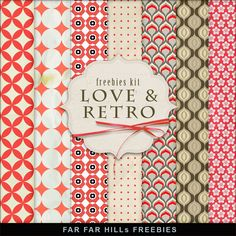 FREE Freebies Kit of Retro Style Backgrounds By Far Far Hill