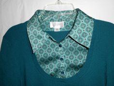 ANN TAYLOR LOFT Blouse Sweater Shirt 2 pc look Women Sz M Medium Teal S/S #Style #Fashion #Deal
