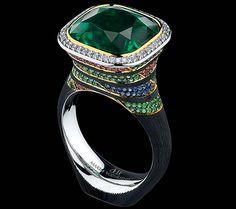 Art stones high jewellery Ring