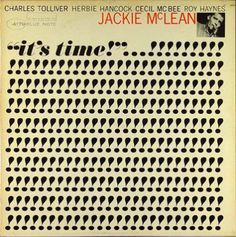 "Album cover for Jackie McLean's ""It's Time,"" designed by Reid Miles for Blue Note Records."