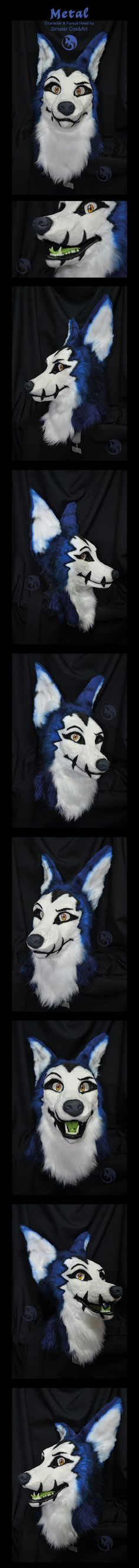 Metal - Fursuit Head by Metal-CosxArt.deviantart.com on @DeviantArt - I really really like this one