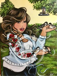 Risultati immagini per isabelle desrochers peinture Princesa Pin Up, Illustrations, Illustration Art, Arte Black, Plus Size Art, Creation Photo, Fat Art, Isabelle, Diamond Art