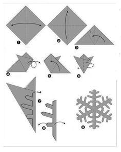 Image detail for -snowflake dennis walker,origami snowflake template,origami snowflake . Snowflake Origami, Paper Snowflake Patterns, Snowflake Template, Origami Patterns, Origami And Kirigami, Snowflake Cards, Paper Snowflakes, Origami Paper, Easy Snowflake