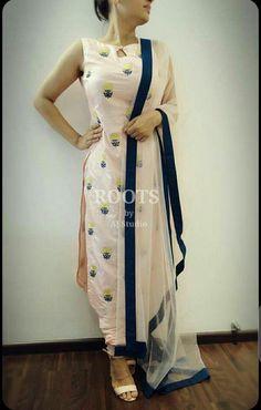 Custom made availaible at Royal Threads Boutique. To order whatsapp at Indian Attire, Indian Ethnic Wear, Punjabi Fashion, Indian Fashion, Dress Neck Designs, Blouse Designs, Patiala Salwar, Anarkali, Salwar Suits