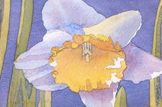 Spring Daffodil Watercolor on 140LB Arches Watercolor Paper