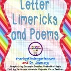 This was made with permission and help from Dr Jean.This FREEBIE file contains 26 Large Capital Letter Limericks and Poems cards, one for each ca...