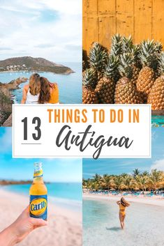 Are you planning a trip to Antigua? Find out what are 13 Amazing Things To Do In Antigua! Antigua Caribbean, Southern Caribbean, Caribbean Vacations, Caribbean Cruise, Paradise Pictures, México City, Destin Beach, Beautiful Places To Visit, Strand