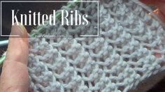 This video knitting tutorial will help you learn how to knit the english mesh lace stitch. For photos and written pattern instructions for this stitch, pleas. Rib Stitch Knitting, Knitting Stiches, Knitting Videos, Easy Knitting, Loom Knitting, Knitting Patterns Free, Knit Patterns, Knitting Projects, Stitch Patterns