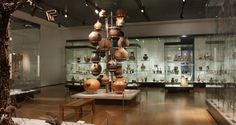 contemporary museum displays wood - Google Search