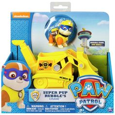 Buy PAW Patrol Super Rubble's Crane Vehicle at Argos.co.uk - Your Online Shop for Action figures and playsets, Toys.