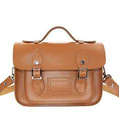 Damai Retro Mini Genuine Leather Cross Body Bag85 Inch Brown    Click image  for more. Tan BagLeather ... 2463a804b460a