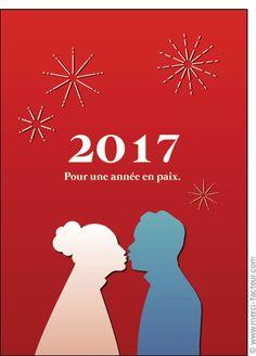 Cette carte vous plait ? Profitez-en tant qu'il est encore temps de souhaiter une bonne année 2017 à vos amis avec une jolie #carte envoyée par La Poste en quelques clics ! #voeux #BonneAnnée #voeux2017 #amour #love #paix #peace #paz  Carte Couple pour une ann�e en paix pour envoyer par La Poste, sur Merci-Facteur !