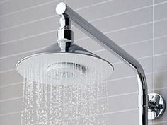 Turn your shower into a hygienic karaoke bar with the wireless speaker shower head. As you lather up and rinse off under this soothing rainhead shower head, the built-in speaker will keep the tunes blasting and the beat bumping. Best Rain Shower Head, Shower Heads, Modern Shower, Modern Bathroom, Bathroom Ideas, Bathroom Gadgets, Bathroom Storage, Bathroom Inspiration, Rainhead Shower