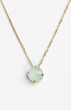 KALAN by Suzanne Kalan Round Stone Drop Necklace. Slightly obsessed with this designer.