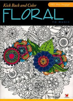 NEW Adult Coloring Book Floral Pictures Paperback Stencil Pattern