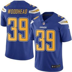 Nike Chargers #39 Danny Woodhead Electric Blue Men's Stitched NFL Limited Rush Jersey