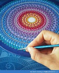 Painted dot mandala