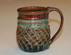 ceramic pottery mug handthrown stoneware
