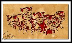 Kittens Scroll Saw Pattern.