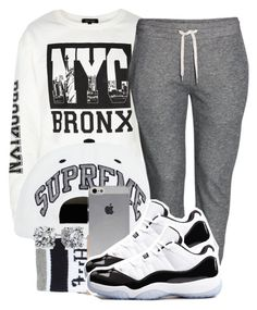 """Hold up, sho nuff"" by miss-kayla259 ❤ liked on Polyvore featuring H&M, HUF, Concord and Blue Nile"