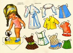 Kathleen Taylor's Dakota Dreams: Thursday Tab- Victoria, Spanish Dolls from 1979 Paper Toys, Paper Crafts, Decoupage, Vintage Paper Dolls, Crochet Bunny, Dress Painting, Sweet Memories, Cute Bunny, Album