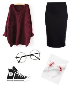 """""""❤"""" by parisashanti on Polyvore featuring T By Alexander Wang and Converse"""