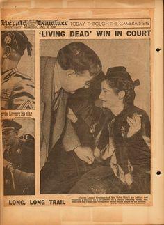 Radium Women. Headline: 'Living Dead' Win in Court. Chicago Herald Examiner. April 4, 1938.