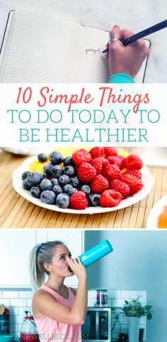 Tips For A Better Diet 10 simple things to do today to be healthy and feel better! - You don't have to wait until Monday to make healthy choices. Here are 10 super simple things you can do TODAY to be healther. Healthy Lifestyle Habits, Healthy Habits, Healthy Tips, Healthy Choices, Healthy Recipes, Healthy Snacks, Healthy Eating, Healthy Living Quotes, Healthy Living Tips