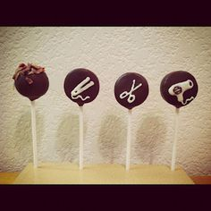 cake pops fit for a hairstylist. and a bacon lover!