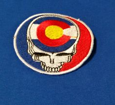 """Steal Your State Colorado State Flag Grateful Dead style embroidered Patch 3.5"""" Iron or Sew On by ZavaJam on Etsy"""