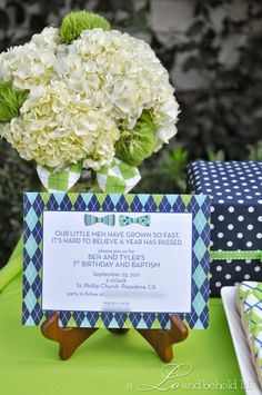 a LO and behold life: Preppy Bow Tie Birthday Party