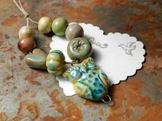 Gaea beads and pendant - mine!