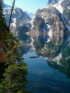 Rugged Goat Lake in Idaho.