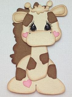 Premade Paper Piecing Tan Giraffe Zoo Animal Kids By My Tear Bears Kira Scrapbook Borders, Baby Scrapbook, Scrapbook Paper Crafts, Circle Crafts, Paper Craft Supplies, Kids Cards, Paper Piecing, Animal Drawings, Baby Quilts